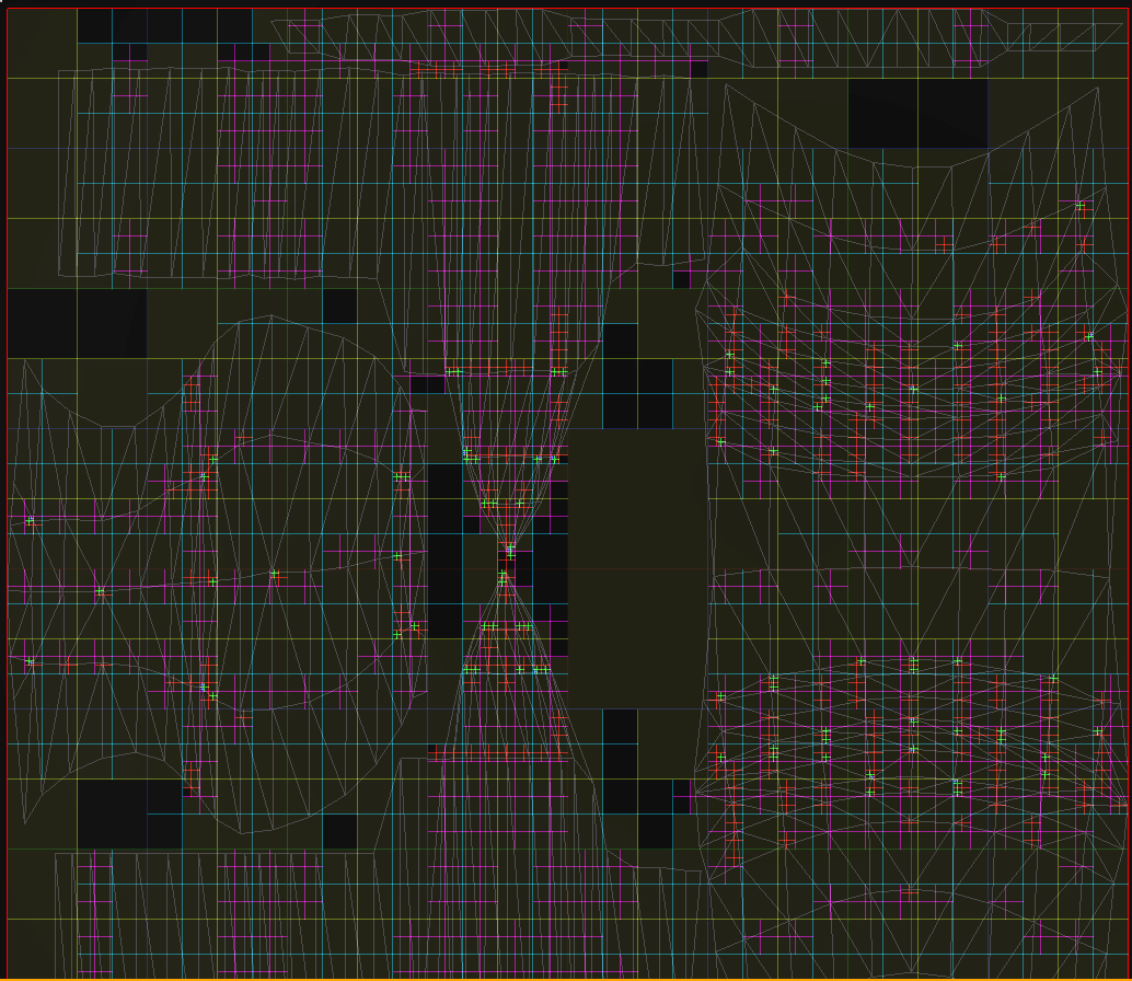 View of the quadtree used to convert UVs to parametric coordinates on a mesh